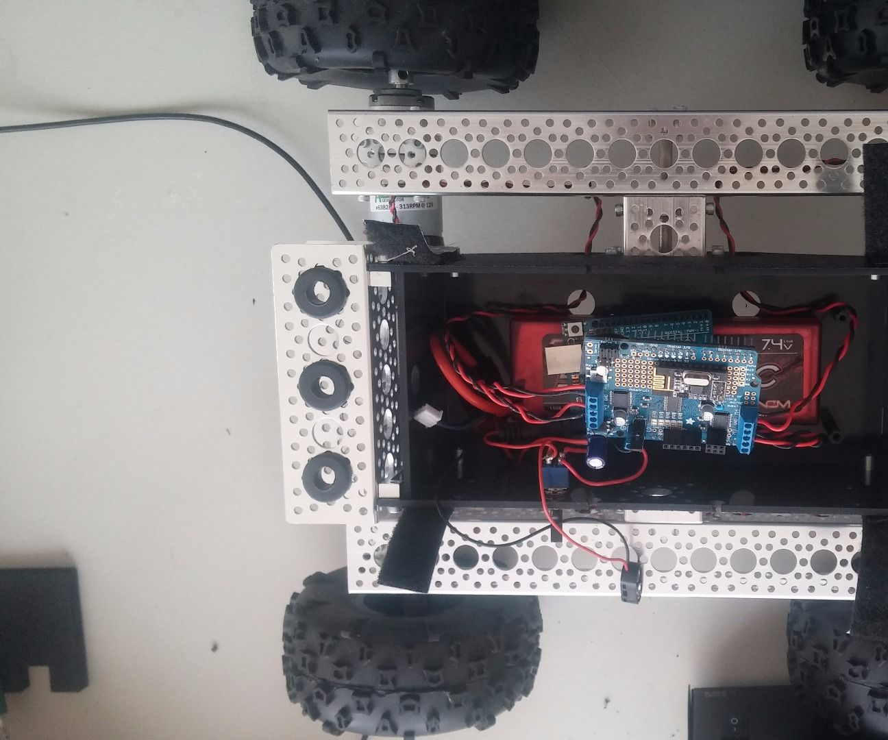 PS3 controlled Nomad 4 wheel drive truck