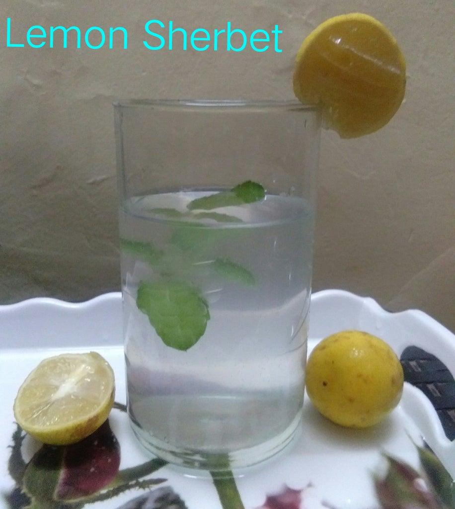 Cool, Cold Lemon Sherbet