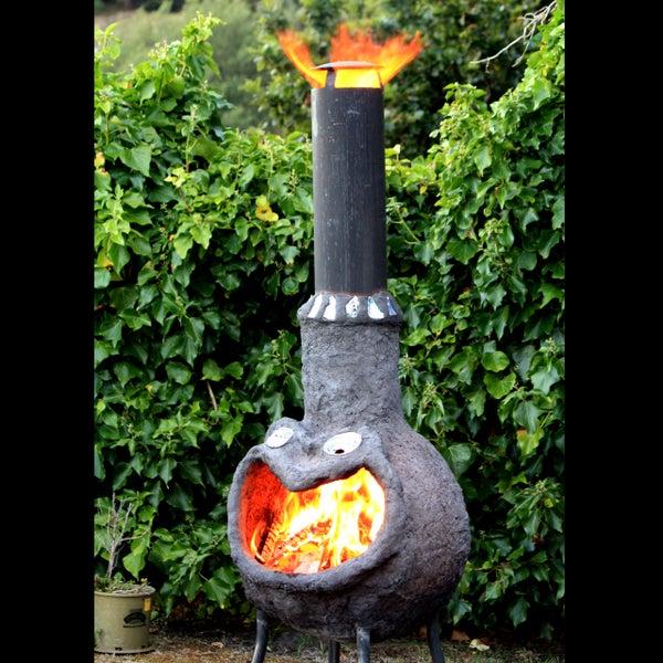 Outdoor Fire Place (Chimenea) From Ferrocement