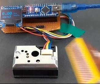 Interfacing GP2Y1014AU0F Sensor With Arduino to Build Air Quality Analyzer