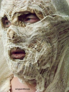 Cheesecloth Application - Wrap the Head of the Mummy