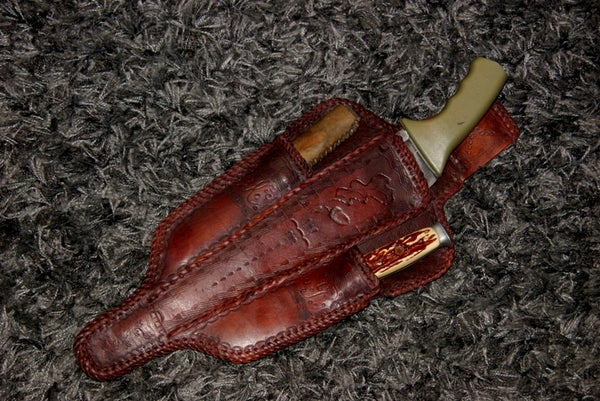 KP Leather Sheath, Lace Cutter-splitter, Chisel/prongs and KP Wood Splitter
