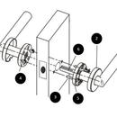 Cómo instalar una palanca de puerta de paso