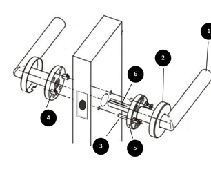 How to Install a Passage Door Lever
