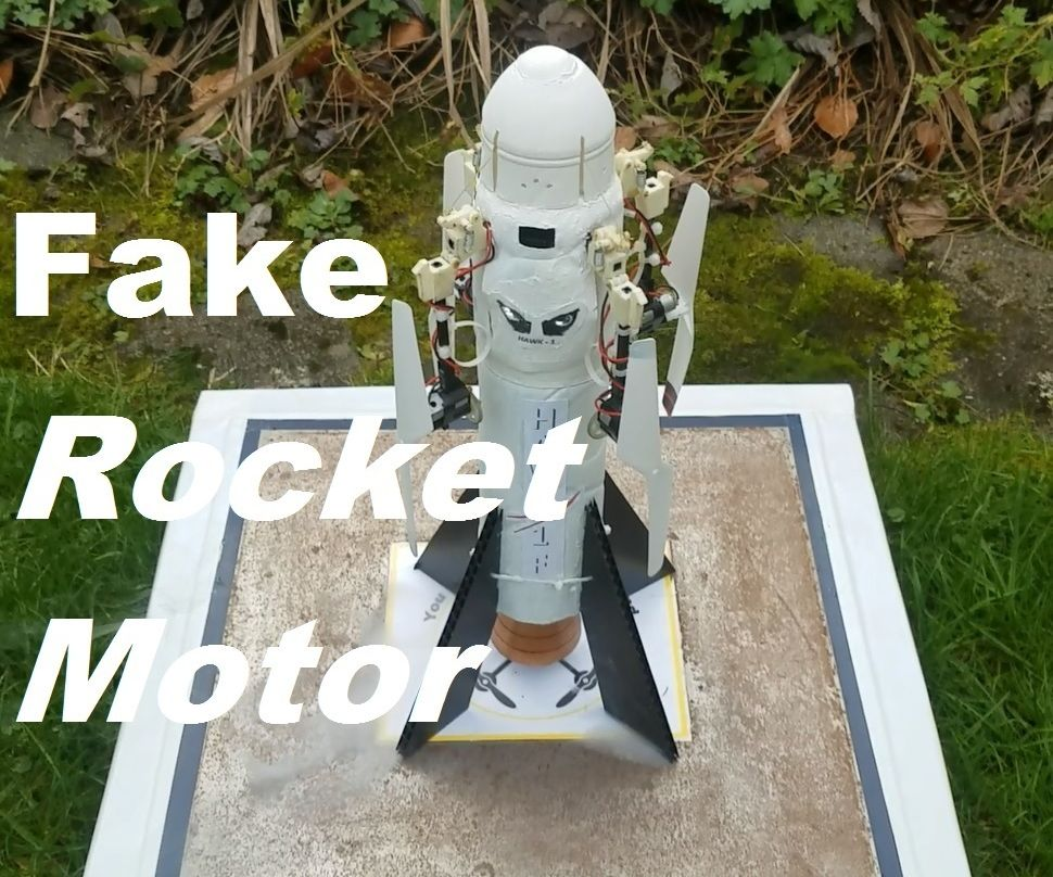 Fake Rocket Motor - Aka Building the Hawk-1F Module for My Rocket Drone
