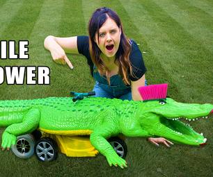 Robot Crocodile That Mows the Lawn!