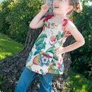 Girl's Gathered Vintage Valance Top!