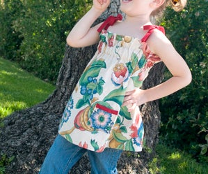 Girl's Gathered Vintage Valance Top!