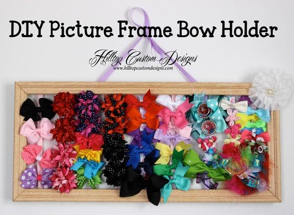 DIY Picture Frame Bow Holder