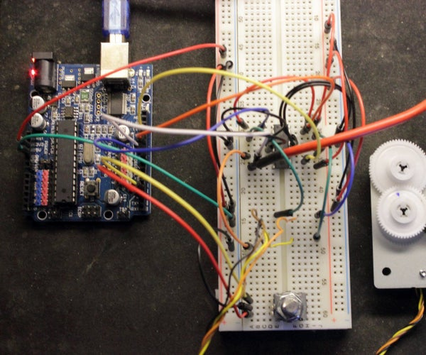 ARDUINO Stepper Motor Controlled With Rotary Encoder and L293d or SN754410NE Chip