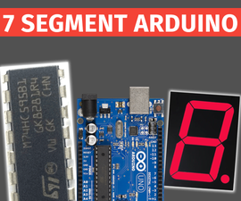 Controlling Seven Segment Display Using Arduino and 74HC595 Shift Register