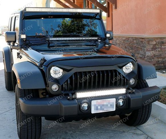 Install 07-17 Jeep Wrangler Tow Hitch Mounted LED Light Bar