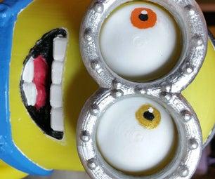 Googly Eyes Minion Clock