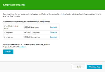 Activating a Certificate