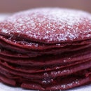 Red Velvet Cake Mix Pancakes