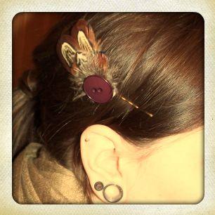 Bohemian Button Hair Pin