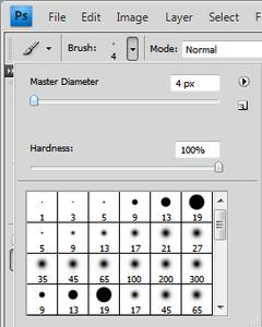 Set Your Brush Tool's Diameter to 4px