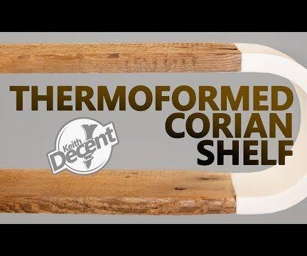 Reclaimed Modern Shelf W/ Thermoformed Corian