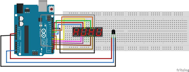 Temperature Sensor With LED Display