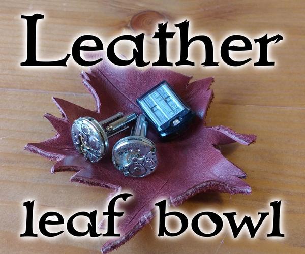 Leather Leaf Bowl