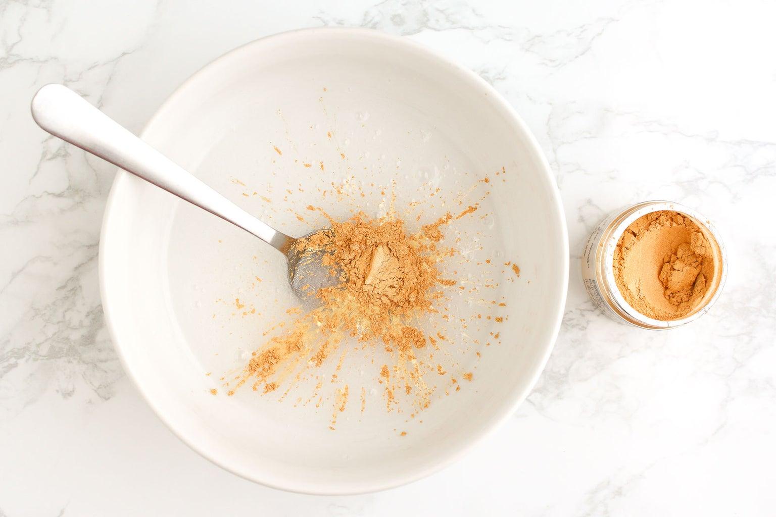 Add in the Golden Mica Powder