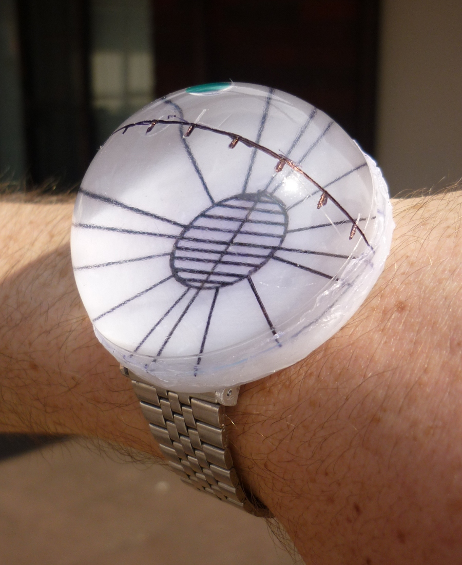 sundial, compass, spirit level. All-in-one time piece.