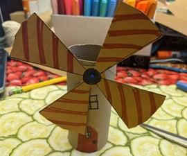 卫生纸管风车