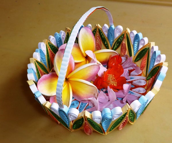 A Colorful Quilled Gift Basket