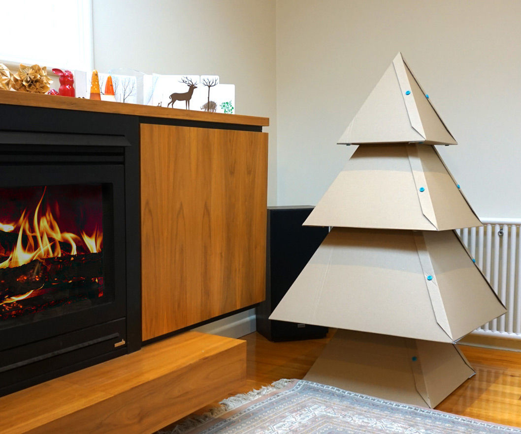 Makedo Cardboard Christmas tree: 2015 UPDATE