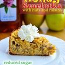 Polish Apple Pie (Szarlotka) with honey, nuts, and raisins