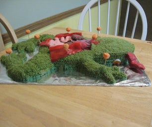Kermit D. Frog Dissection Birthday Cake