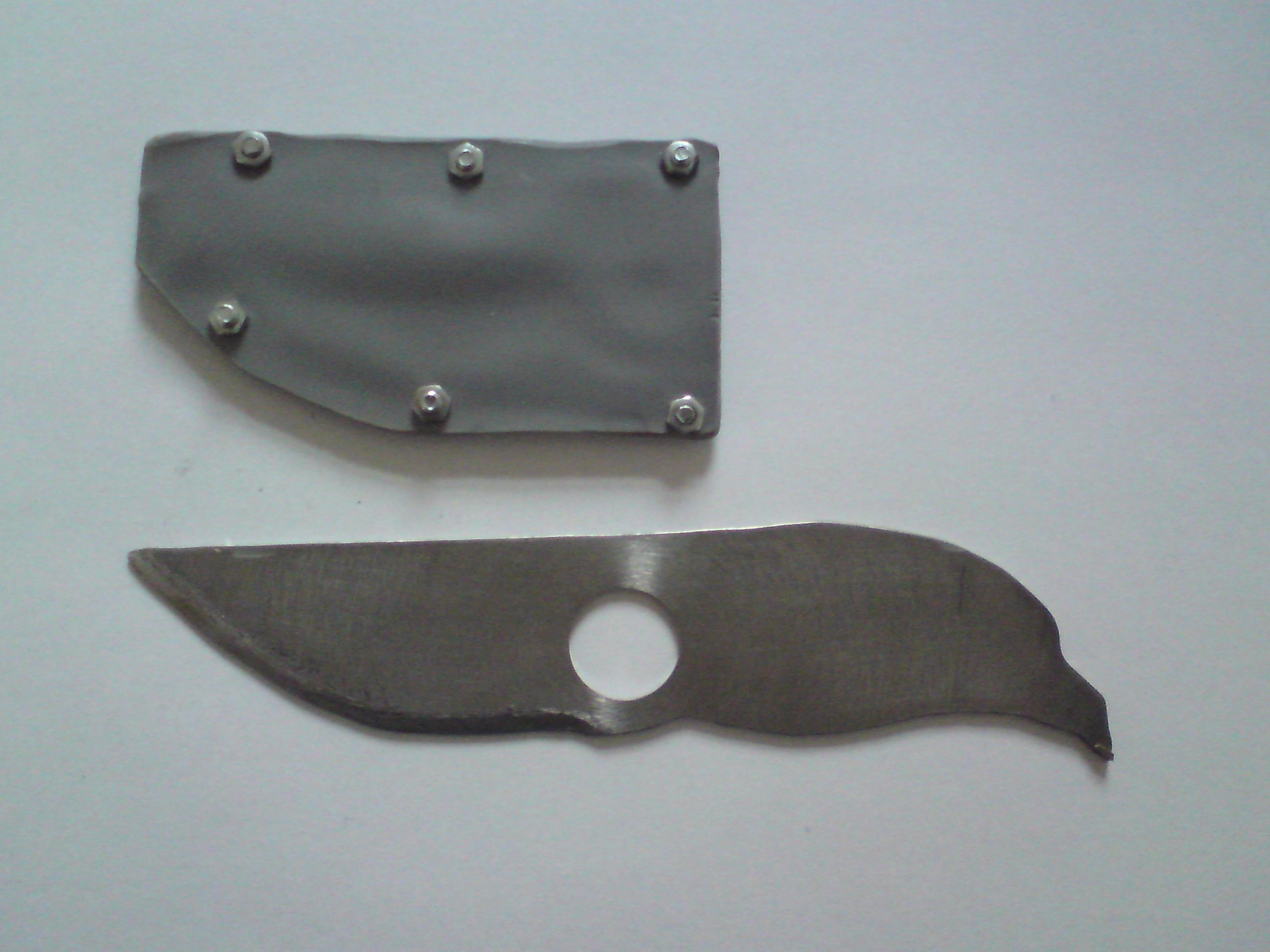 Make a simple knife with pvc sheath