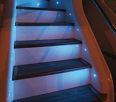 Exceptional Floor Level LED Lighting On The Stairs, With Automatic Triggers When  Walking Up/down. This Is Ideal For Evening/night Time (and If Iu0027m Too Lazy  To Turn On ...