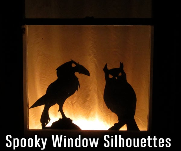 Spooky Window Silhouettes With Follow-Me Eyes