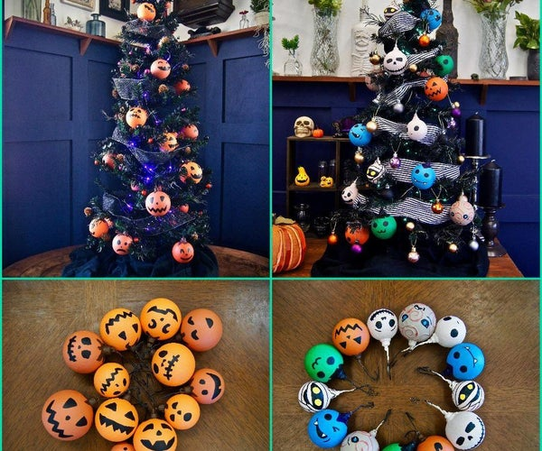 Halloween Tree AND Super Awesome Ornaments!