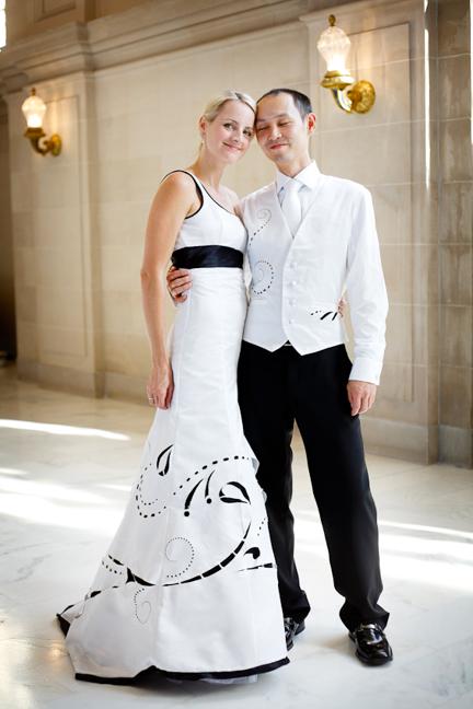 Laser-Cut Wedding Dress and Vest