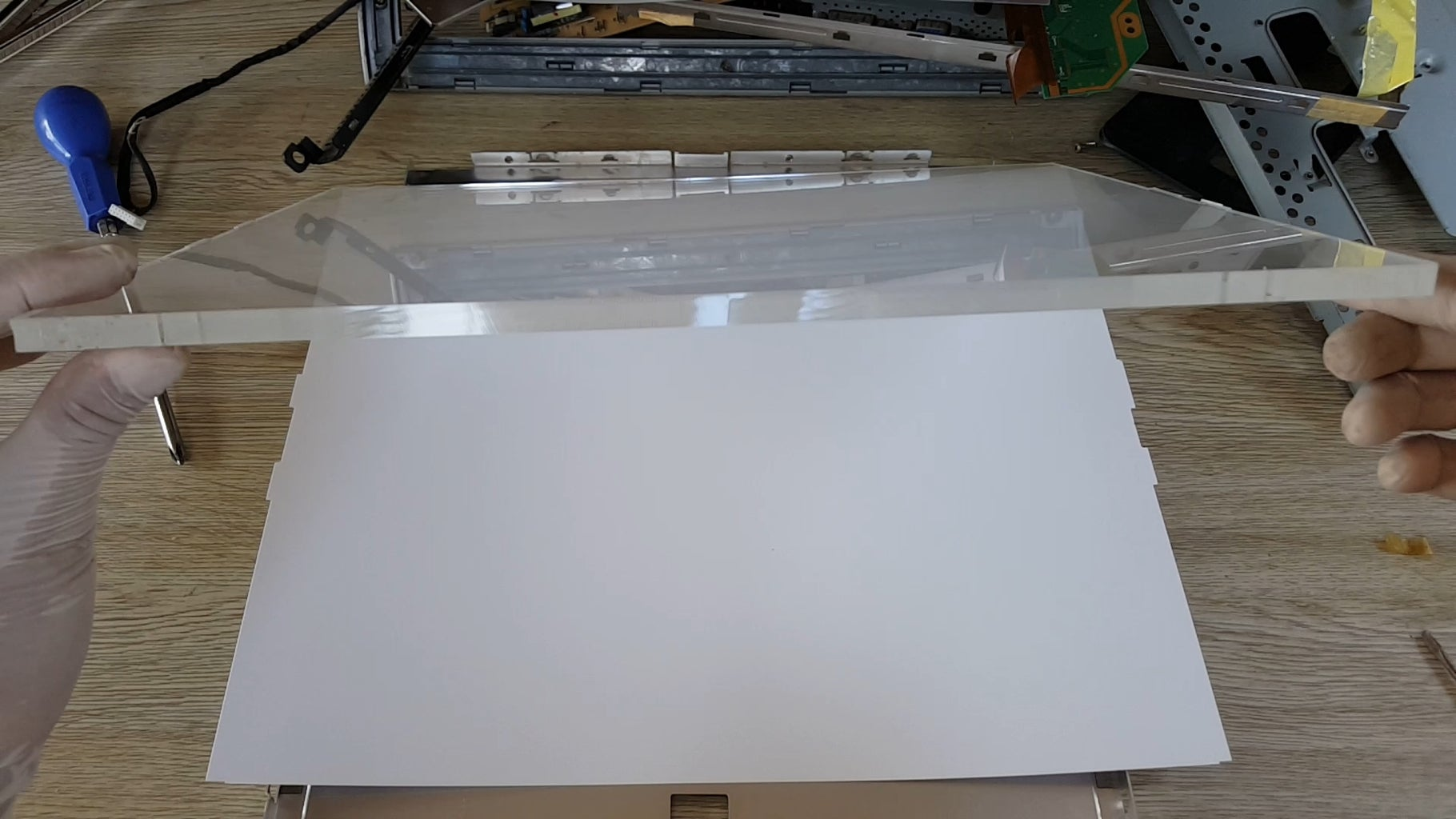 Remove Acrylic Sheet