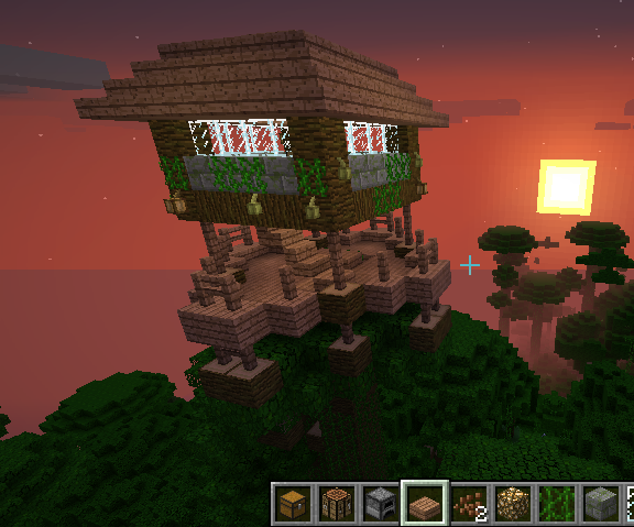 Awesome Minecraft Jungle Treehouse