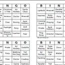 Charades Bingo
