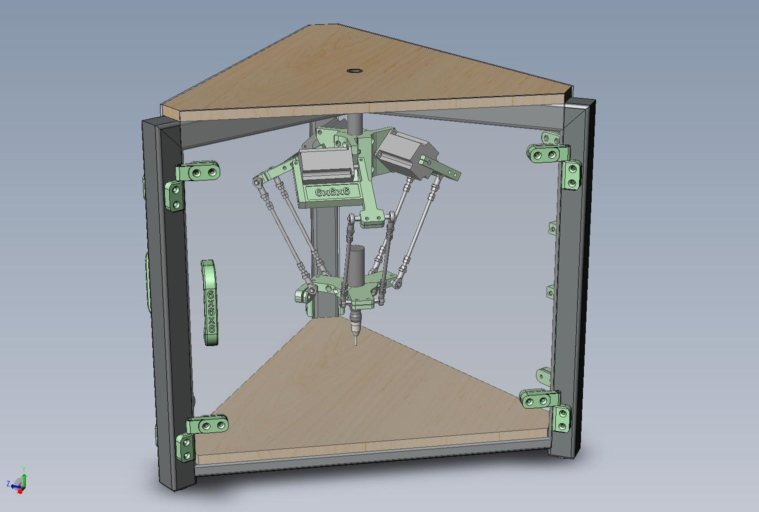The Build, 6x6x6 Delta CNC in Action