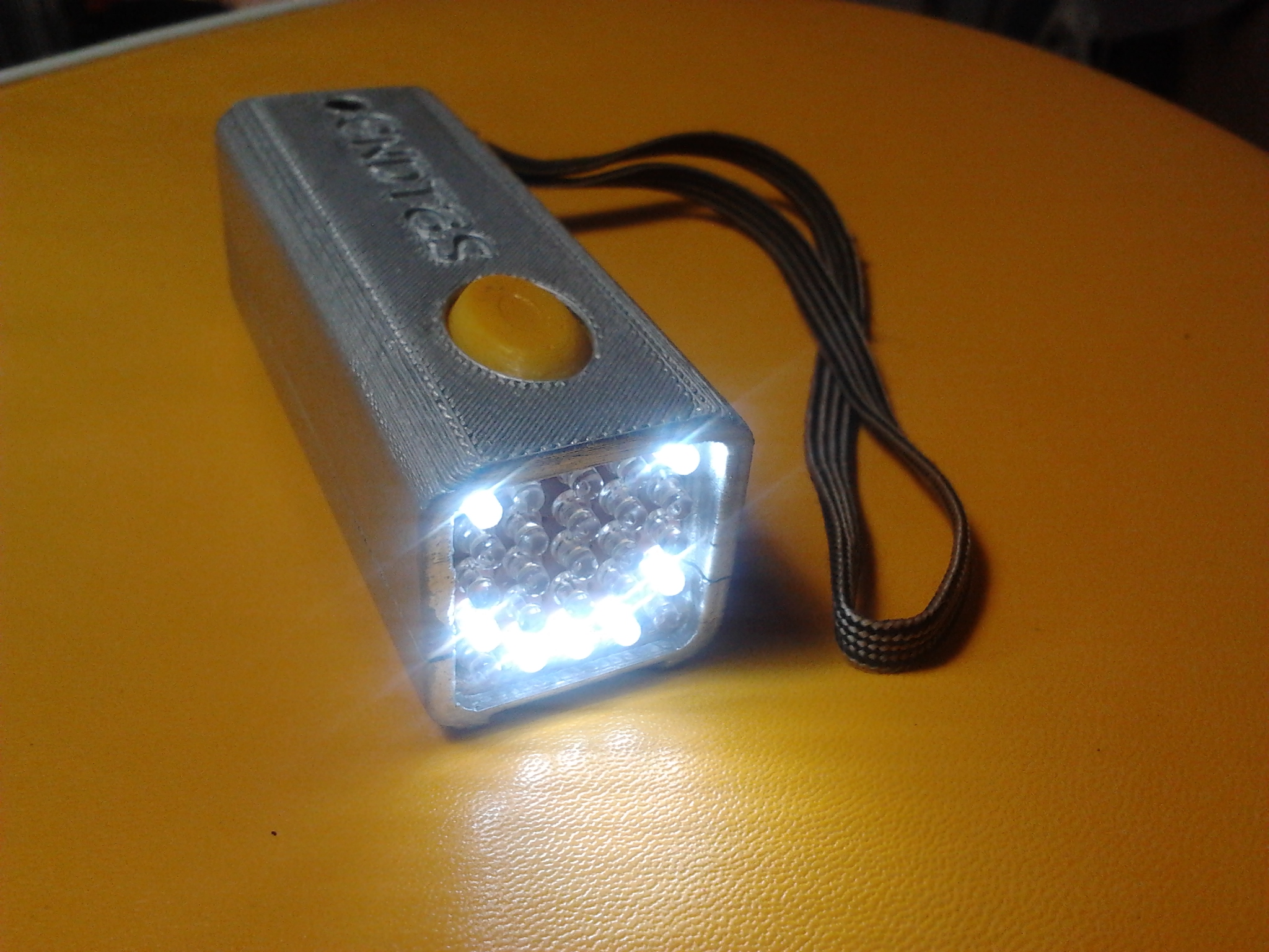 "Dot matrix intelligent hand/bike light. ""the matrix"""