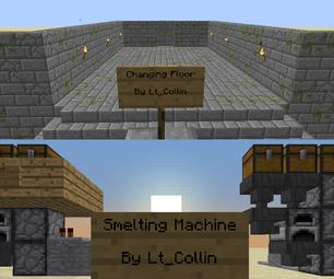Minecraft Changing Floor and Smelting Machine