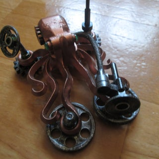 SteamPunk Lego LED Octopus