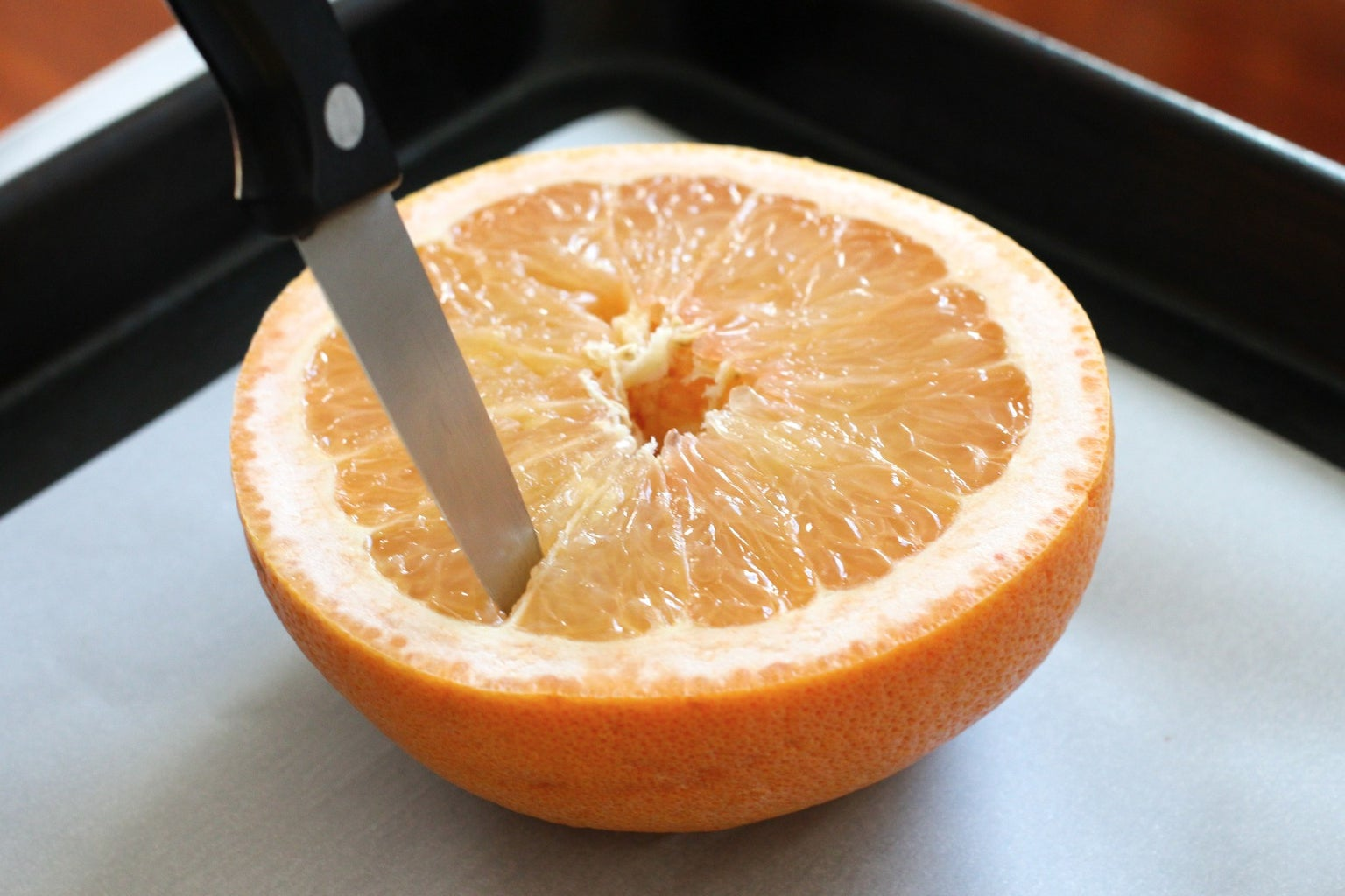 Cut the Grapefruit in Half and Prep It
