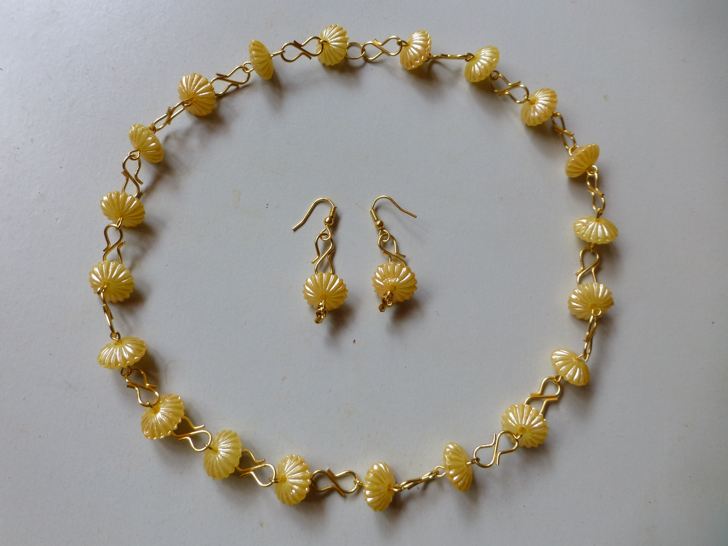 Crystal Beaded Necklace With Matching Earrings