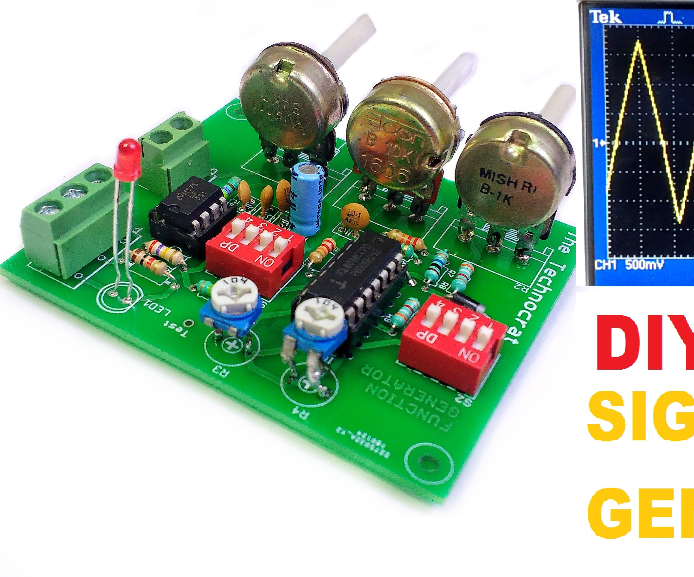 How to Generate Electrical Signals | Function Generator DIY| Sine,Triangle and Square Waveforms