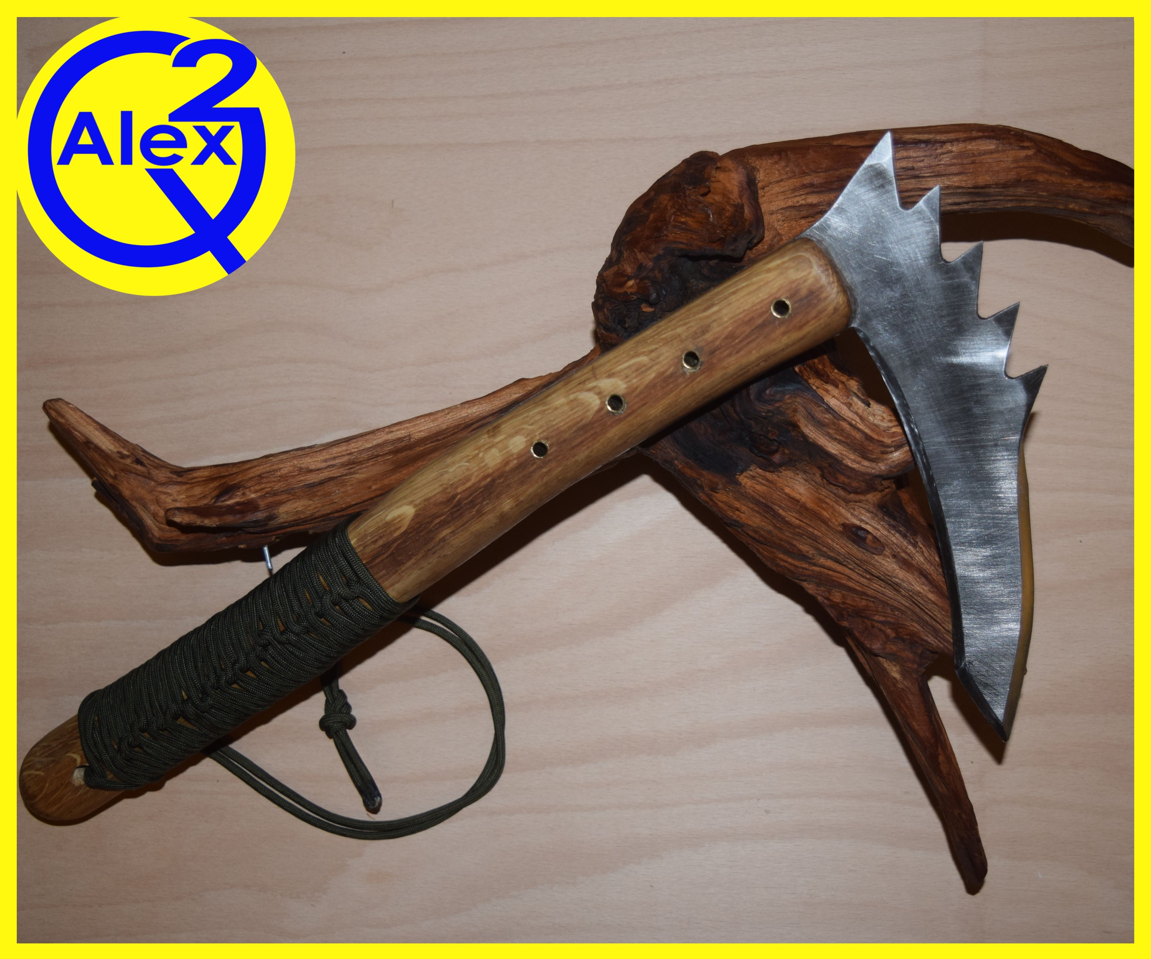 Zombie Slaying Kama Made From an Old Saw Blade