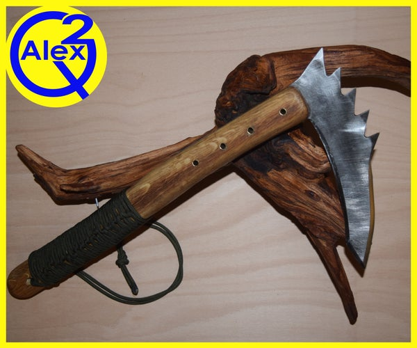 Kama Made From an Old Saw Blade With Basic Tools