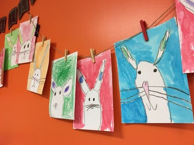 Easter Bunny Portrait - Directed Drawing for Kids