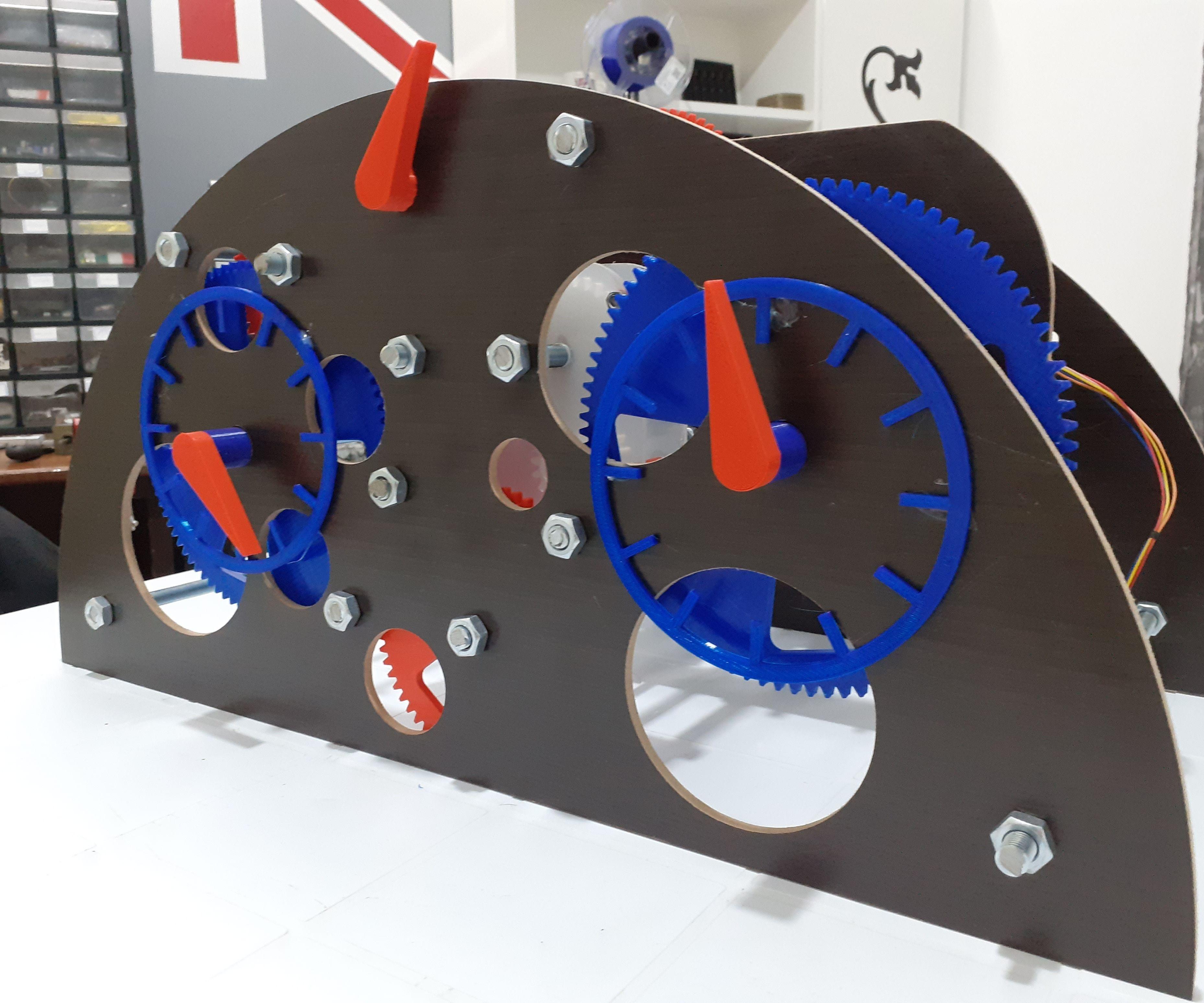 3d Printed Mechanical Clock